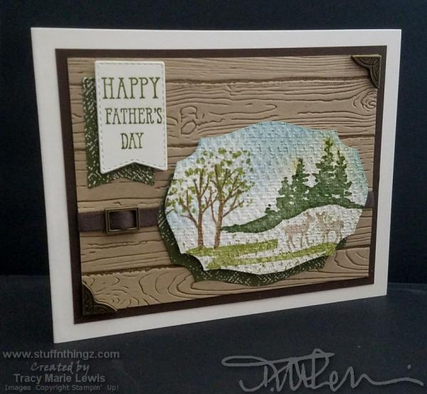 Father's Day Nature Scene Card | Tracy Marie Lewis | www.stuffnthingz.com