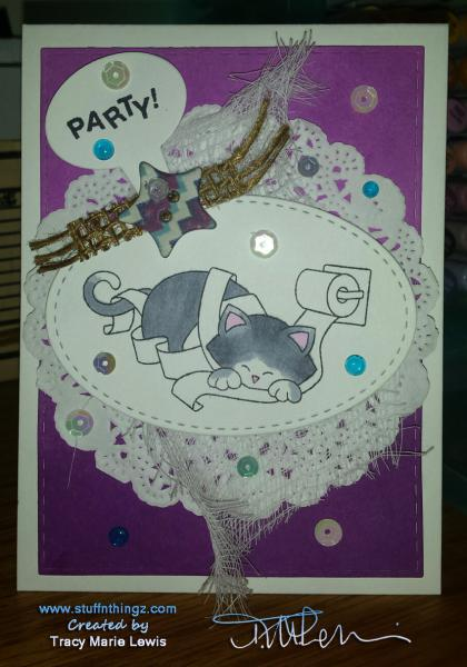 Newton's Nook Inky Paws Challenge #33 Party!   Tracy Marie Lewis   www.stuffnthingz.com