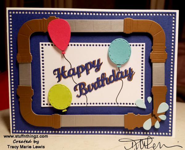 Perfect Plumber's Birthday  Card   Tracy Marie Lewis   www.stuffnthingz.com