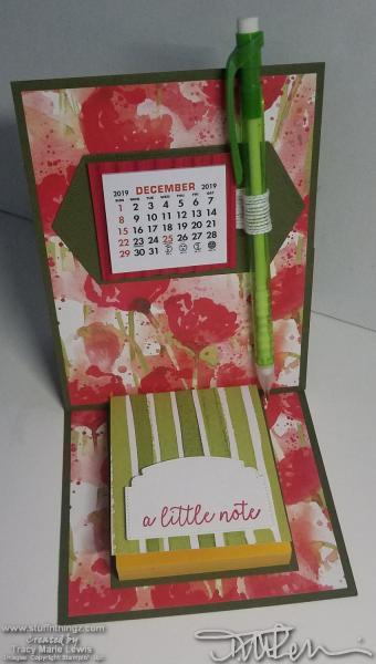 Poppies Calendar Desk Accessory | Tracy Marie Lewis | www.stuffnthingz.com