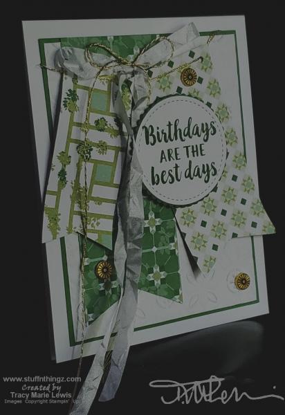 Retiring Green Banners Birthday Card | Tracy Marie Lewis | www.stuffnthingz.com