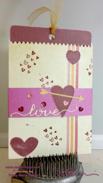 Love Mini Bag with Tag Pullout Message Card | Tracy Marie Lewis | www.stuffnthingz.com
