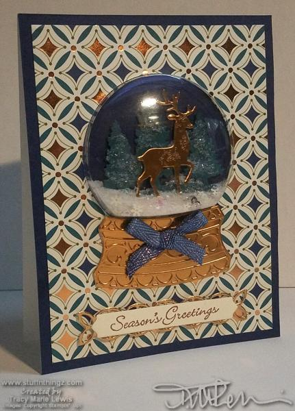 A Second Season's Greetings Deer Card | Tracy Marie Lewis | www.stuffnthingz.com