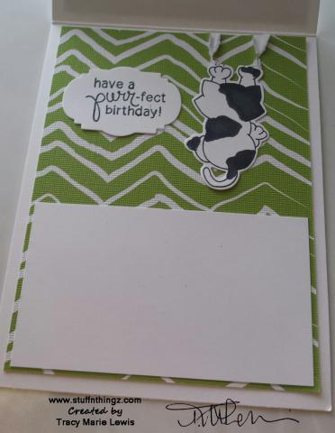 Lazy Newton Birthday Card Inside | Tracy Marie Lewis | www.stuffnthingz.com