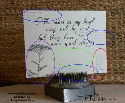 The Voices In My Head Card Map   Tracy Marie Lewis   www.stuffnthingz.com