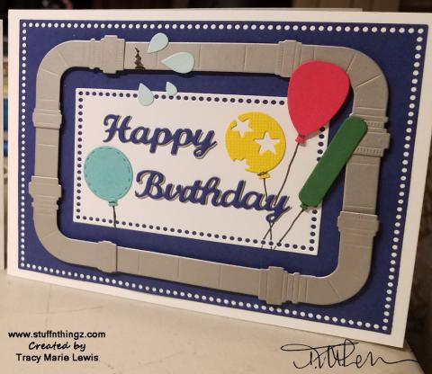 Plumbing Birthday Steel Pipes Card   Tracy Marie Lewis   www.stuffnthingz.com