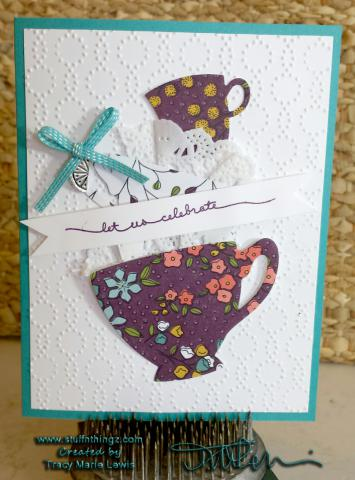 Stamp A Stack Card #5 - Tea Cups Class Version | www.stuffnthingz.com