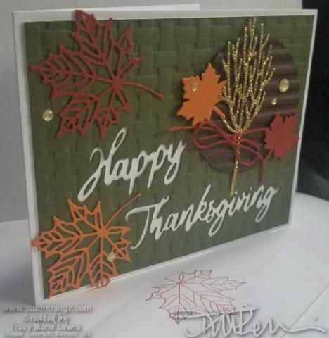 Garden Green Fall Thanksgiving Card | Tracy Marie Lewis | www.stuffnthingz.com