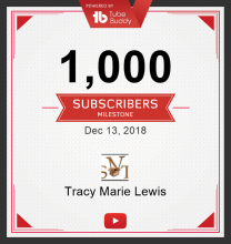 I Finally Hit My YouTube Subscriber Goal! | Tracy Marie Lewis | www.stuffnthingz.com