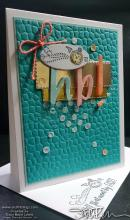 Retiring Showcase - Happy Birthday Time Flies Card | Tracy Marie Lewis | www.stuffnthingz.com