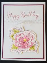 Paper Pumpkin Vertical Watercolor Birthday Card | Tracy Marie Lewis | www.stuffnthingz.com