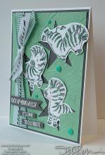 Zebras & Stars Celebrate Card | Tracy Marie Lewis | www.stuffnthingz.com