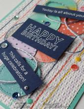 Many Mates Meets Playing With Patterns Birthday Card | Tracy Marie Lewis | www.stuffnthingz.com
