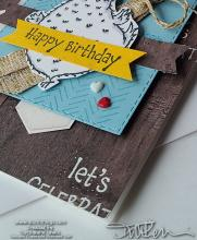 Hey Birthday Chick Woodgrain Card | Tracy Marie Lewis | www.stuffnthingz.com
