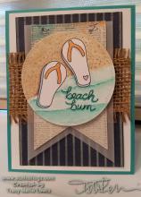 Beach Bum Flip Flops Card   Tracy Marie Lewis   www.stuffnthingz.com