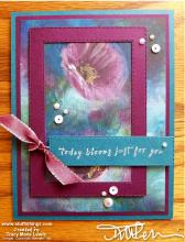 Retiring - Perennial Blooms Bliss Card | Tracy Marie Lewis | www.stuffnthingz.com