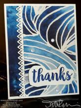 Blueberry Bushel Batique Waves Birthday Card | Tracy Marie Lewis | www.stuffnthingz.com