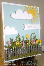 Sunny Spring Flowers Card | Tracy Marie Lewis | www.stuffnthingz.com