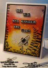 Video Tutorial - Not All Who Wander Are Lost Card | Tracy Marie Lewis | www.stuffnthingz.com