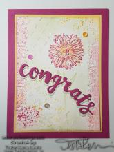 Congrats Floral Mixed Media Card | Tracy Marie Lewis | www.stuffnthingz.com