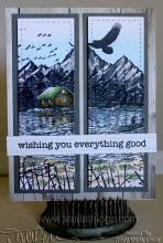 wishing you everything good - Cabin Scene Two Panel Card | Tracy Marie Lewis | www.stuffnthingz.com