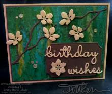 Retiring Green With Yellow Flowers Birthday Card | Tracy Marie Lewis | www.stuffnthingz.com