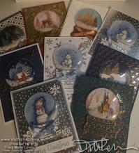 Snowglobe Christmas Cards | Tracy Marie Lewis | www.stuffnthingz.com