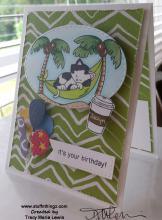 Lazy Newton Birthday Card | Tracy Marie Lewis | www.stuffnthingz.com