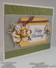 Yellow Magnolia Birthday Card | Tracy Marie Lewis | www.stuffnthing.com
