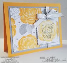 Roses Floral Get Well Card | Tracy Marie Lewis | www.stuffnthingz.com