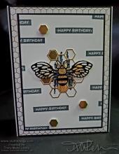 Retiring Masculine Bee Birthday Card | Tracy Marie Lewis | www.stuffnthingz.com