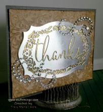 Belt Buckle Thanks Card | Tracy Marie Lewis | www.stuffnthingz.com