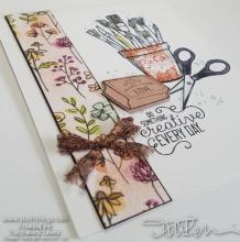 Be Creative Every Day CASE Card | Tracy Marie Lewis | www.stuffnthingz.com