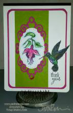 Our Daily Bread Designs Hummingbird and Fuschia - Tracy Marie Lewis - www.stuffnthingz.com