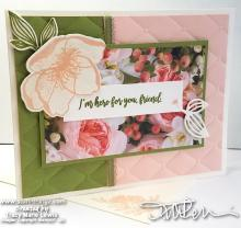Here For You Friend Card | Tracy Marie Lewis | www.stuffnthingz.com