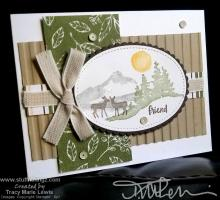 "One Sheet Wonder 2"" x 4"" - Deer Friend Card | Tracy Marie Lewis | www.stuffnthingz.com"