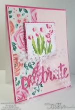 Pink On Pink Celebrate Floral Card | Tracy Marie Lewis | www.stuffnthingz.com