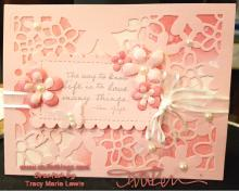 Pink Van Gogh Valentine Card | Tracy marie Lewis | www.stuffnthingz.com