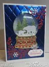 Polar Bears Foil Snowglobe Card | Tracy Marie Lewis | www.stuffnthingz.com