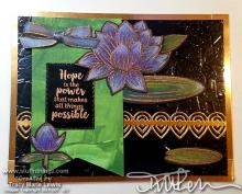 Purple Lilies Hope Card Indoor Light | Tracy Marie Lewis | www.stuffnthingz.com