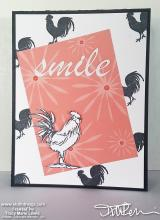 SAB - Smile Rooster Card | Tracy Marie Lewis | www.stuffnthingz.com