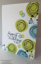 Swirly Happy Birthday Card | Tracy Marie Lewis | www.stuffnthingz.com