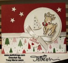 Stamp Camp - Rudolph Christmas Card | Tracy Marie Lewis | www.stuffnthingz.com