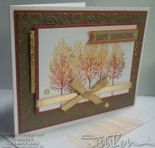 Thanksgiving Ombre Card #1 | Tracy Marie Lewis | www.stuffnthingz.com