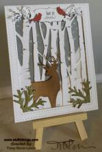 Woodland Deer - Let It Snow | Tracy Marie Lewis | www.stuffnthingz.com