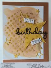 Cinnamon Stars Birthday Card | Tracy Marie Lewis | www.stuffnthingz.com